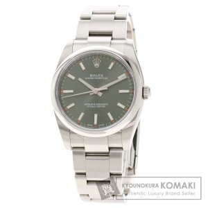 ROLEX ロレックス 114200 オイスターパーペチュアル オリーブグリーン 腕時計  ステンレススチール SS メンズ  中古 kyounokura