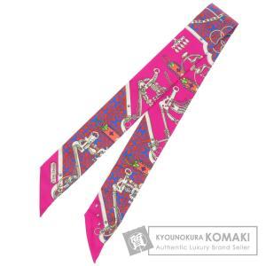 HERMES エルメス ツイリー 馬術と鎖 Mors Et Gourmettes Remix スカー...
