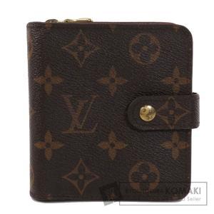 LOUIS VUITTON ルイヴィトン M61667 コンパクト・ジップ モノグラム 二つ折り財布(小銭入れあり) モノグラムキャンバス レディース 中古 kyounokura