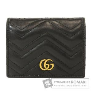 GUCCI グッチ 466492 GG マーモント 二つ折り財布(小銭入れあり) カーフ レディース 中古 kyounokura