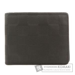 LOUIS VUITTON ルイヴィトン N63263 スレンダー ウォレット アンフィニ 二つ折り財布(小銭入れなし) ダミエアンフィニ メンズ 中古|kyounokura