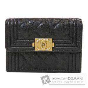 CHANEL シャネル ボーイシャネル ココマーク 二つ折り財布(小銭入れあり)  レディース 中古 kyounokura