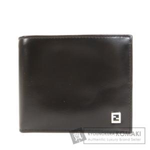 FENDI フェンディ ロゴタイプ 二つ折り財布(小銭入れなし) レザー レディース 中古|kyounokura