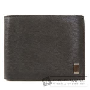 Dunhill ダンヒル ロゴモチーフ 二つ折り財布(小銭入れなし) レザー レディース 中古|kyounokura