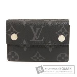 LOUIS VUITTON ルイヴィトン M67630 ディスカバリー コンパクトウォレット エクリプス 二つ折り財布(小銭入れあり) モノグラムエクリプス メンズ 中古 kyounokura
