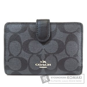 COACH コーチ F23553 シグネチャー 二つ折り財布(小銭入れあり) PVC レディース 中古 kyounokura