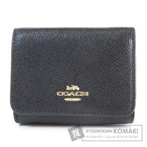 COACH コーチ F37968 三つ折り財布 二つ折り財布(小銭入れあり) レザー レディース 中古 kyounokura