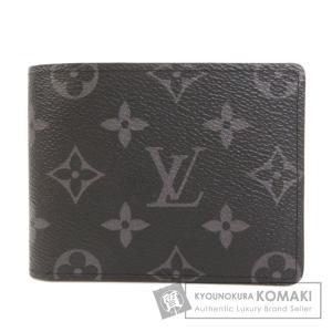 LOUIS VUITTON ルイヴィトン M62294 ポルトフォイユ・スレンダー モノグラムエクリプス 二つ折り財布(小銭入れなし) モノグラムエクリプス メンズ 中古|kyounokura