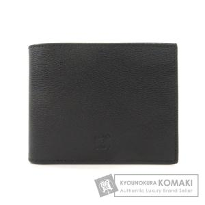 LOEWE ロエベ ロゴ型押し 二つ折り財布(小銭入れなし) レザー メンズ 中古|kyounokura