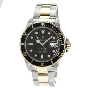 ROLEX ロレックス 16613 オイスターパーペチュアル サブマリーナ デイト 腕時計 ステンレススチール/K18イエローゴールド メンズ  中古