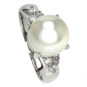 SELECT JEWELRY セレクトジュエリー  真珠/ダイヤモンド リング・指輪 プラチナPT900  中古