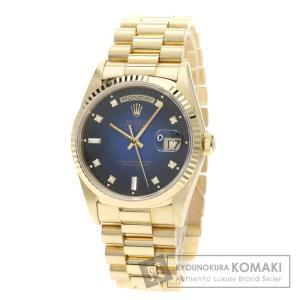 ROLEX ロレックス 18238A デイデイト 10Pダイヤモンド 腕時計 /K18YG メンズ ...