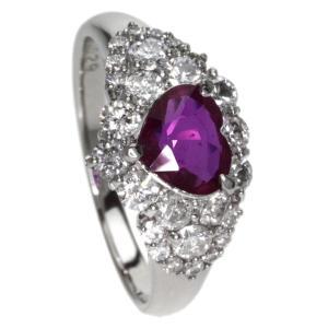 SELECT JEWELRY セレクトジュエリー  ルビー/ダイヤモンド リング・指輪 プラチナPT900  中古