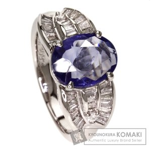 SELECT JEWELRY セレクトジュエリー 非加熱サファイア/ダイヤモンド リング・指輪 プラチナPT900  中古