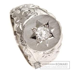 SELECT JEWELRY セレクトジュエリー ダイヤモンド 印台 リング・指輪 プラチナPT900  メンズ 中古