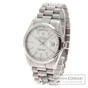 ROLEX ロレックスRef.118239 オイスターパーペチュアル デイデイト 腕時計 K18ホワイトゴールド/K18WG メンズ  中古