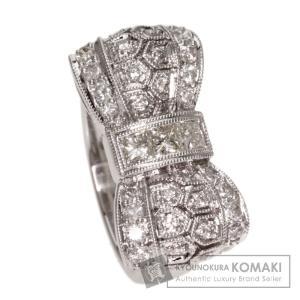 SELECT JEWELRY セレクトジュエリー ダイヤモンド リボンモチーフ リング・指輪 プラチナPT900  中古