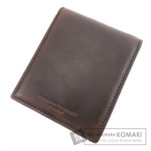 SELECT WALLET セレクトウォレット キャサリンハムネット 二つ折り財布(小銭入れあり) レザー メンズ 中古