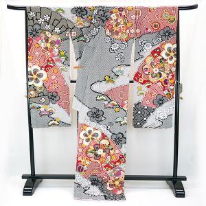 SALEセール 振袖 フルオーダー仕立付 総絞り 古典柄 正絹 刺繍入り f-033 赤 黒 成人式 新品販売 kyouto-usagido 02