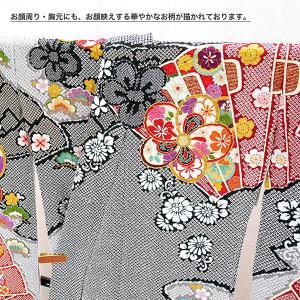 SALEセール 振袖 フルオーダー仕立付 総絞り 古典柄 正絹 刺繍入り f-033 赤 黒 成人式 新品販売 kyouto-usagido 03