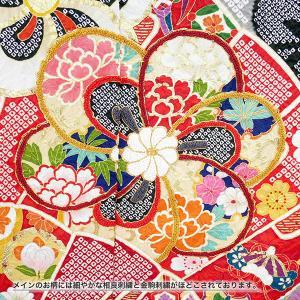 SALEセール 振袖 フルオーダー仕立付 総絞り 古典柄 正絹 刺繍入り f-033 赤 黒 成人式 新品販売 kyouto-usagido 06