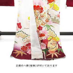 SALE  仕立て付き 正絹振袖 f-554-t 袴プレゼント!古典柄 白 ホワイト 刺繍入り 成人式 卒業式 結婚式 新品購入|kyouto-usagido|03