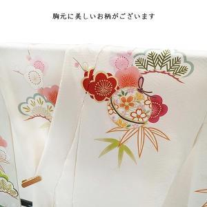 SALE  仕立て付き 正絹振袖 f-554-t 袴プレゼント!古典柄 白 ホワイト 刺繍入り 成人式 卒業式 結婚式 新品購入|kyouto-usagido|05