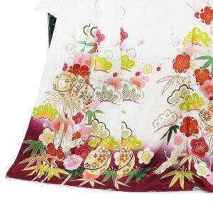 SALE  仕立て付き 正絹振袖 f-554-t 袴プレゼント!古典柄 白 ホワイト 刺繍入り 成人式 卒業式 結婚式 新品購入|kyouto-usagido|06