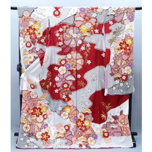振袖 古典柄 決算セール 仕立て付き 特選 総絞り 正絹 f-580 刺繍入り 成人式 新品購入|kyouto-usagido