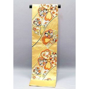 仕立代込み  西陣織袋帯  桜文様  fo-490  金地 振袖用などに|kyouto-usagido