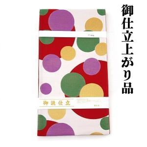 ご奉仕品 仕立上がり 西陣織 袋帯 新品 fo-564 白 水玉模様 小紋 無地 訪問着 カジュアル着物など|kyouto-usagido