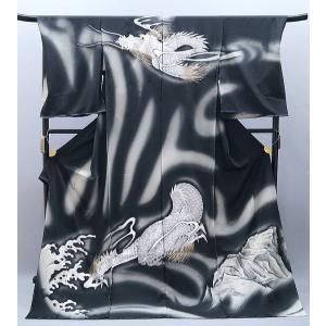 決算大特価セール!50%off フルオーダーフルオーダー 手縫い仕立て付き 手刺繍 正絹 訪問着  龍 h-925|kyouto-usagido