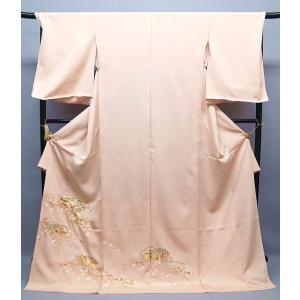 お買上げありがとうございました 正絹手描友禅 色留袖  内と良 謹製 ito-081|kyouto-usagido