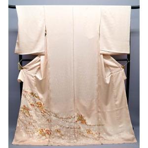 お買上げありがとうございました 正絹古典柄色留袖  扇子文様 ito-083|kyouto-usagido