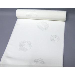 白地の正絹長襦袢<花の丸文> 和装 着物 j-067 黒留袖、色留袖、喪服などに|kyouto-usagido