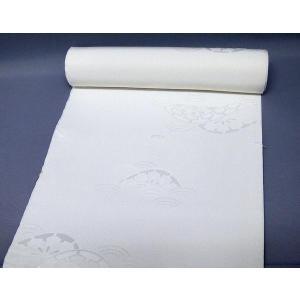 20%off 白地の正絹長襦袢<片輪車>j-072 黒留袖、色留袖、喪服などに|kyouto-usagido