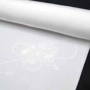 20%off 白地の正絹長襦袢<鼓柄> j-120 黒留袖、色留袖、喪服などに|kyouto-usagido