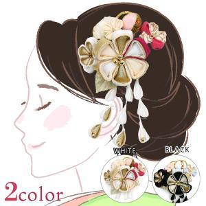 髪飾り 4点セット kk-040  コーム型 かんざし 成人式振袖  卒業式  |kyouto-usagido