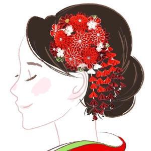 髪飾り 2点セット kk-058  白 ホワイト ピンク 花かんざし 組紐 成人式 振袖 浴衣 卒業式|kyouto-usagido