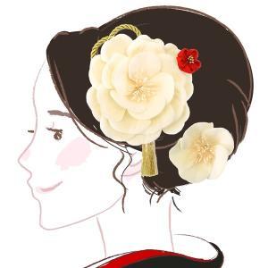 髪飾り 2点セット kk-081 花  コーム 成人式 振袖 浴衣 卒業式|kyouto-usagido