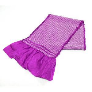 正絹総絞り帯揚げ 紫色 絹100% oa-101 送料無料 kyouto-usagido