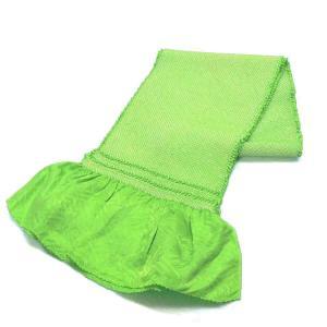 正絹 総絞り 帯揚げ 黄緑色 絹100% oa-202  送料無料 kyouto-usagido