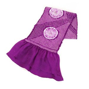 帯揚げ 正絹 総絞り 絹100% oa-372 紫 パープル 送料無料 kyouto-usagido