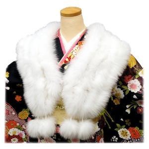 <お取り寄せ品>シャドーフォックスショール 4連 sh-013  最高級FOX  振袖 成人式に  kyouto-usagido