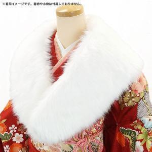 フェイクファー ショール ストール ホワイト sh-015(送料無料 ホワイト 白 振袖 成人式) kyouto-usagido