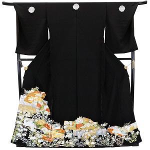 仕立て付き 特選品  総手刺繍 正絹黒留袖 to-001 婚礼 結婚式|kyouto-usagido