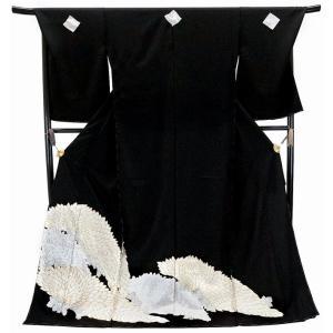 仕立て付き 特選品  総手刺繍 正絹黒留袖 to-004 婚礼 結婚式|kyouto-usagido