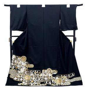 決算セール フルオーダー 手縫い仕立て付き 正絹 黒留袖 to-395 古典  総手刺繍  尾峨佐染繍 結婚式 kyouto-usagido