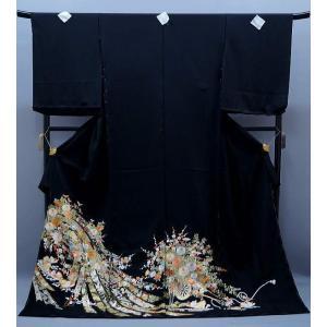 黒留袖 総刺繍 正絹 to-401 束のしめ 鴛鴦 特選品 結婚式|kyouto-usagido