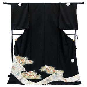 SALE セール 手縫い仕立て付  正絹 黒留袖 手描き友禅  to-518 松竹梅  結婚式  婚礼  和装|kyouto-usagido